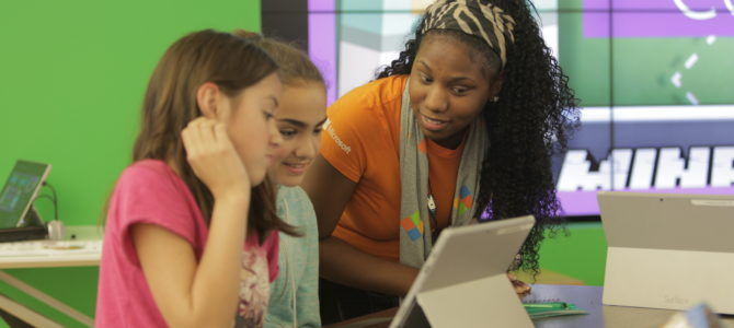 Fall 2016 YouthSpark Camps Offered by Microsoft Stores