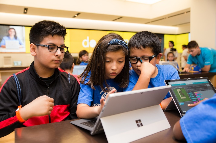 Hour of Code at Microsoft Store