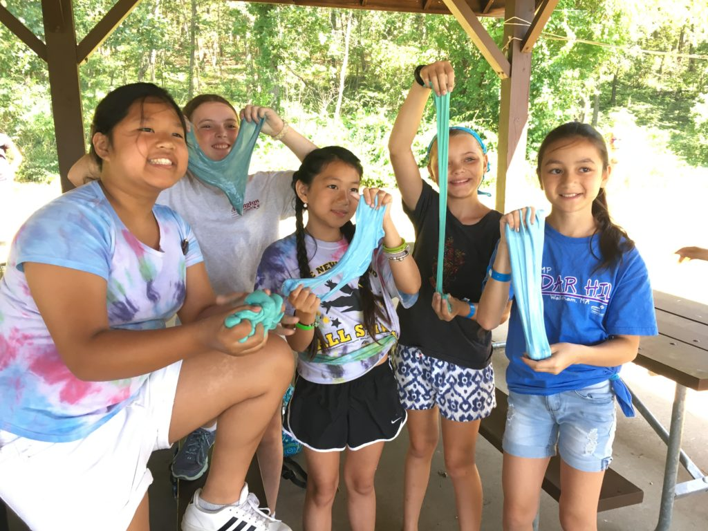 Girl Scouts make slime