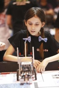 FIRST LEGO League student