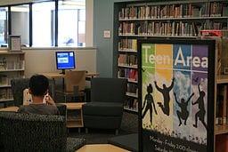 The Fullerton Public Library's Teen Area