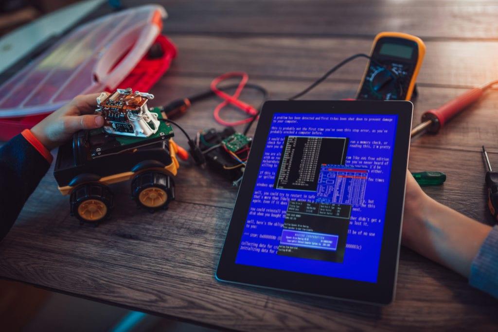 Programming a robot