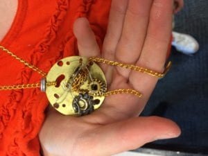 Steampunk jewelry at the Newton Free Library