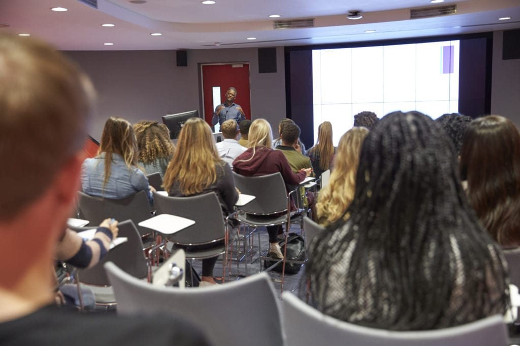 Student lecture at university