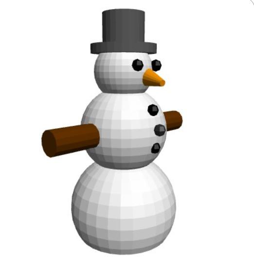 BlocksCAD Snowman